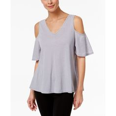Calvin Klein Performance Pleated-Back Off-The-Shoulder Top ($39) ❤ liked on Polyvore featuring tops, blouses, stone, off shoulder tops, off the shoulder blouse, cut out top, cut out shoulder top and calvin klein top