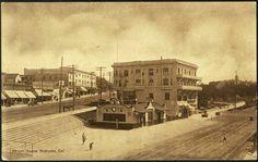 Street Scene -- Old Redondo Beach postcard.