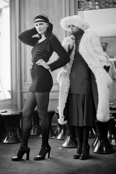 Sonia Rykiel, Fashion Designer for the 'Fragile, but Strong,' Dies at 86 - The New York Times (Love the outfit on the right--not the coat and hat, but that sweater over pleated skirt, tights, heels--beautiful.)