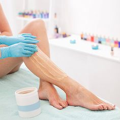 Sugaring hair removal instead of waxing.