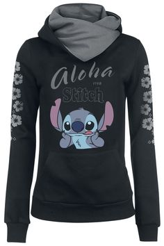 Lilo & Stitch Hooded sweater – Buy now at EMP – More Fan merch Disney Film available online - Unbeatable prices! Lelo And Stitch, Lilo Et Stitch, Lilo And Stitch Hoodie, Lilo And Stitch Quotes, Cute Disney Outfits, Cool Outfits, Sweat Shirt, Mode Alternative, Cute Stitch