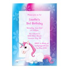 unicorn party invitations - Google Search
