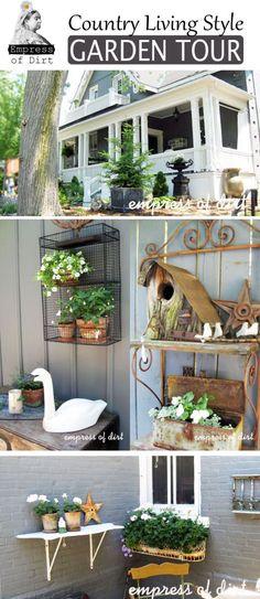 Country Living Style Garden Tour