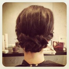 simple, luxe, twists, braid @ Boudoir Hairdressing