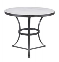 Lillian August Fine Furnishings 36dia 30h  Stone and metal side table