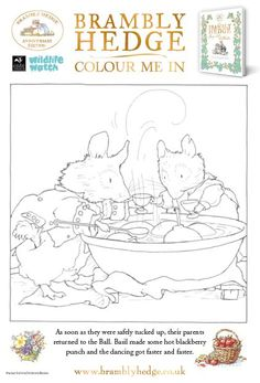 Brambly Hedge Coloring Pages Brambly Hedge Coloring Pages Hedges