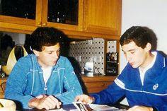 Ayrton Sennawith friend Gulgemin