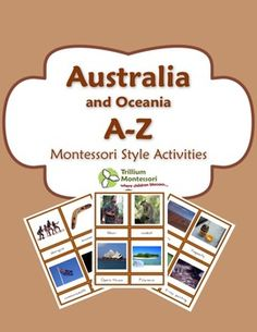 Australia A-Z Montessori PackThis collection of printable activities can be used to supplement your unit on Australia. It is suitable for PreK-1 but can easily be adapted for 2nd and 3rd grades as well. It features photographs and easy to read font. If you are a Montessori teacher, this will really round out your continent boxes and unit studies!In all of my Continent A-Z packs, I have tried hard to provide a wide range of representative photographs in order to give students a sense of the…