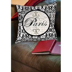 """Thumbprintz Paris Circle Damask Indoor Pillow, 14"""" x 14"""""""