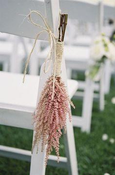 Pink Astilbe - Bohemian Barn wedding by Braedon Flynn