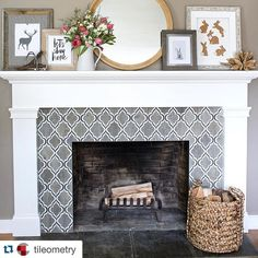 Swoon! I sense a project coming on. #ihaveathingfortile  #Repost @tileometry with @repostapp.  Absolutely captivated by the #tile surrounding @drivenbydecor's #fireplace - @walkerzanger's Sterling Row collection - and the beautiful #spring #decor!  Regrammed via @drivenbydecor.  // #backsplash #design #designer #decoracao #home #homedesign #homeimprovement #idcdesigners #livingroom #pattern #tileporn #tilework #tilelove #tiled #tileometry #tileaddiction #tiles #atxrealtor #austinrealtor by…