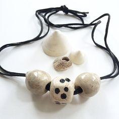 sunday ceramic handmade necklace by jenifer lake