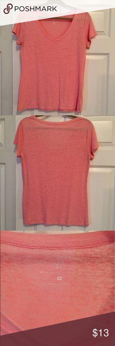 Medium Pink New York & Company V-neck T-shirt Medium Pink New York & Company V-neck T-shirt New York & Company Tops Tees - Short Sleeve