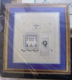 Bucilla Christmas House of Hardanger Andrle Counted Cross Stitch 41333 NIP OOP #Bucilla #Picture