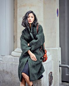 This is back! #aw #green #fuzzy #coat and we will have it online too #register countdown #thanksgiving #thefrankieshop