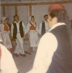 Croatian Dancing in our garage - Canley Vale NSW in the 1970s
