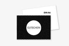 """PostKARTE+""""GUTSCHEIN""""+gePUNKTet+mit+Umschlag+von+Frau+B.+-+PapeterieSHOP+auf+DaWanda.com"""