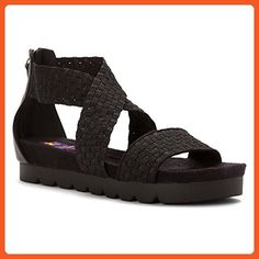 ZEE ALEXIS FRAN BLACK METALLIC WOMENS BACK-ZIP CLOSURE Size 37M - Sandals for women (*Amazon Partner-Link)
