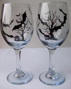 I found 'Bat Wine Glasses' on Wish, check it out!