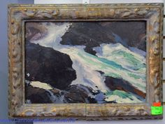 #GeorgeBellows #MidCenturyModern oil painting on board. #Sold for $6800 http://cannonsauctions.com/