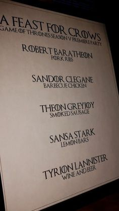 Game of Thrones Food Ideas for Your Season 5 Premiere Party   #GameOfThrones #GameOfThronesFood