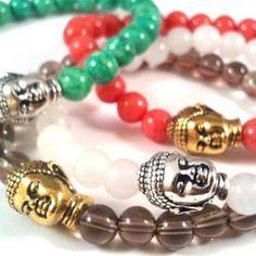 Gemstone Buddha Bracelets, buddha, yoga jewelry