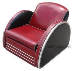 Art Deco Club Chairs, Vintage Mid-Century Modern, Contemporary, Antique and Biedermeier Furniture: Club Chairs Car Furniture, Art Deco Furniture, Art Deco Chair, Jazz Art, Art Deco Design, Club Chairs, Art Deco Fashion, Chair Design, Home Deco