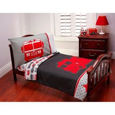 Have to have it. Carters Fire Truck 4 pc Toddler Bedding Set $59.99