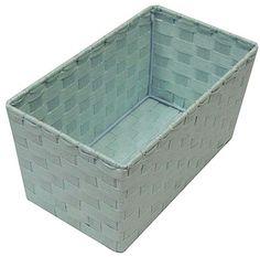 Small Pearl Blue Pastel Storage Basket 24x14x12cm