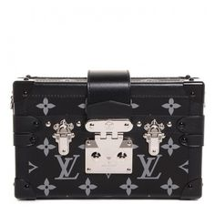 LOUIS VUITTON Reflective Petite Malle Black NEW ❤ liked on Polyvore featuring bags, handbags, shoulder bags, louis vuitton, sac, leather purses, cross-body handbag, leather crossbody purses, crossbody purses and shoulder strap bags