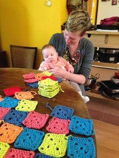 Blanket for Inanna Learn To Crochet, Blanket, Learning, Blog, Blankets, Blogging, Carpet, Teaching, Quilt