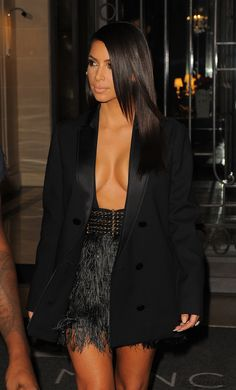 Kim and Kanye leaving Hôtel Le Royal Monceau in Paris, France