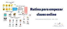 Rutina para empezar las clases online Do You Feel, How Are You Feeling, The Day Today, Distance, Feelings, Learning, Speak Spanish, Vocabulary, Routine