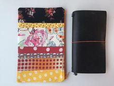 Traveler's Notebook Bag Patchwork - Midori - Traveler's Notebook Bag - TN bag - TN Pouch - Journal Bag - Personal Planner - Chic Sparrow by LowlandOriginals on Etsy