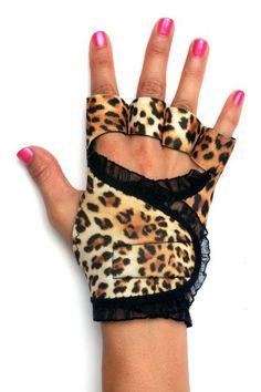 Leopard workout gloves · g-loves workout gloves for women