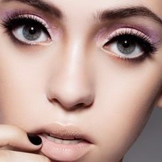 @colormeface- #webstagram soft purple eyeshadow with long lashes and nude lipstick