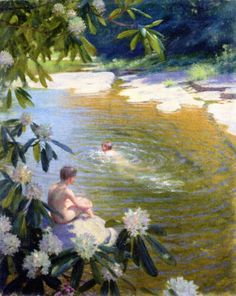 The Athenaeum - The Swimming Hole Charles Courtney Curran - 1899 Toledo Museum of Art (Ohio) (United States) Painting - oil on canvas Height: 55.88 cm (22 in.), Width: 45.72 cm (18 in.)