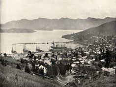 View of Lyttelton Harbour, believed to be taken some time in the Christchurch New Zealand, Decorative Lines, Find Art, Framed Artwork, Paris Skyline, 19th Century, Past, Pictures, Photos