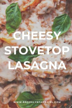 Easy to make stovetop lasagna recipe that's a family favorite!  This weeknight skillet meal tastes like classic lasagna but only takes 35 to make from start to finish. Easy Pasta Recipes, Supper Recipes, Delicious Dinner Recipes, Italian Sausage Pasta, Sweet Italian Sausage, Meaty Lasagna, Pasta Dishes, Skillet, Italian Recipes