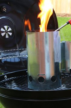 CONSIDER A CHIMNEY STARTER: Tired of prepping your charcoal grill? Get your coals hot and ready in 10 to 15 minutes by using a chimney starter.