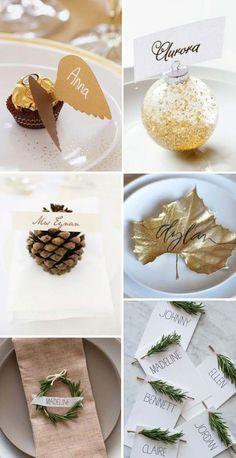 Tolle Ideen für selbstgemachte Tischkarten. Noch mehr Ideen gibt es auf www.Spaaz.de