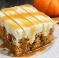 COOKING GUID: Pumpkin Caramel Cream Cheese Poke Cake