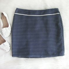 Square patterned skirt Excellent condition! 100% poly. Waist laid flat 16 inches.  Length just less than 18 inches. Side zipper. Back has pleat.  Bundle for best deals! Hundreds of items available for discounted bundles! You can get lots of items for a low price and one shipping fee!  Follow on IG: @the.junk.drawer Max Studio Skirts