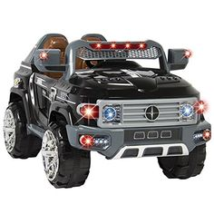 Angelwing Ride On Truck Car Kids With Remote Control LED Lights AUX and Music MP3 12V Motors * You can find out more details at the link of the image.Note:It is affiliate link to Amazon.
