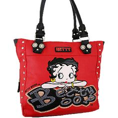 Cowgirl Betty Boop RED Tote