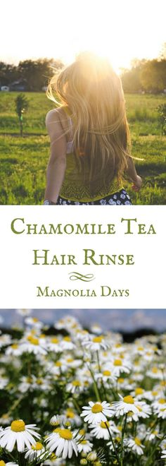 When you use chamomile tea for hair, it creates golden glints for a subtle sun-kissed look.  This recipe uses a triple soak and dry method for the maximum effect. via @magnolia_days