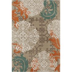 @Overstock - An eye-catching design highlights this Allie rug. This thick and plush rug is hand-tufted in India using premium quality wool. Area rug features abstract design in shades of brown, blue, orange and cream against dark tan background.http://www.overstock.com/Home-Garden/Allie-Handmade-Abstract-Tan-Wool-Rug-5-x-76/7662095/product.html?CID=214117 $199.99