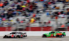 Keelan's Dad and Day-Day bookin' it during the Folds of Honor QuikTrip 500, Atlanta Motor Speedway, 3/1/15.