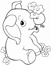 رسومات اطفال للتلوين حيوانات فيل 2 Elephant Coloring Page Animal Coloring Pages Baby Elephant Drawing