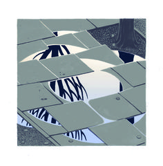 Lithographic prints of puddles (2012), Jon McNaught.